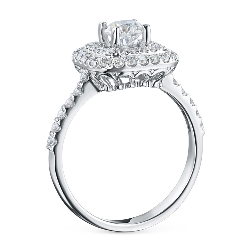 Кольцо из белого золота с бриллиантами э0901кц06200908 (фото 4)