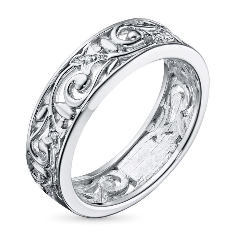 Кольцо из серебра с бриллиантом э0601кц03152800
