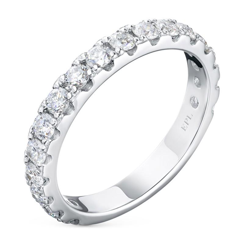 Кольцо из белого золота с бриллиантом э0901кц05185300