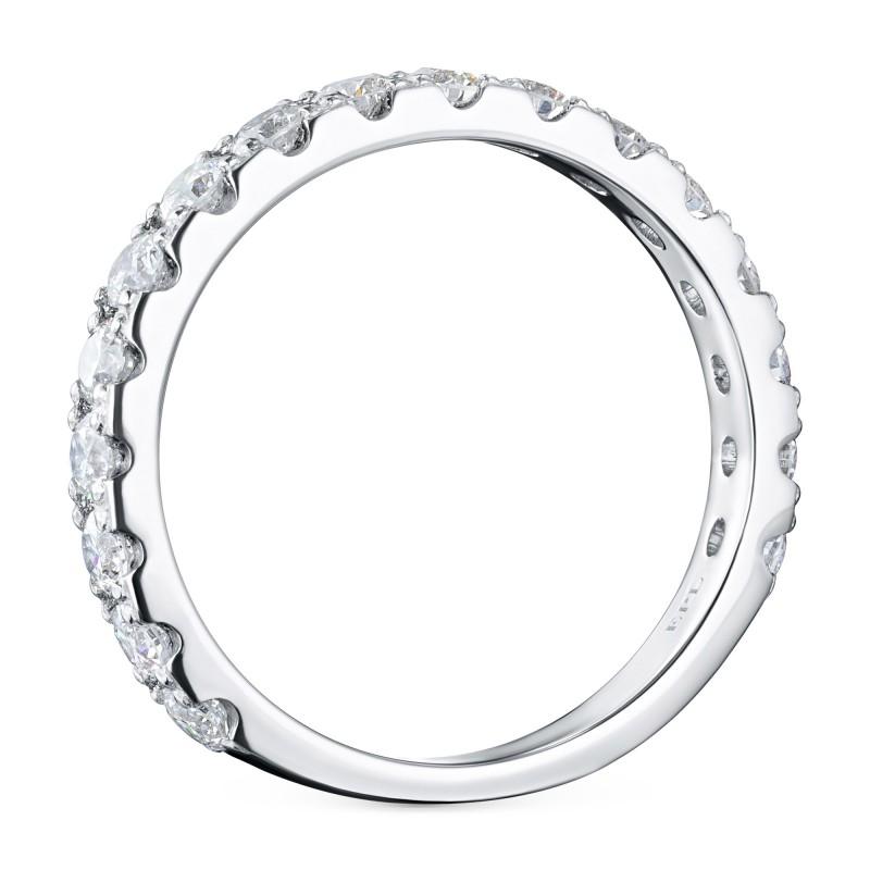 Кольцо из белого золота с бриллиантом э0901кц05185300 (фото 4)