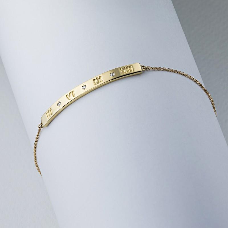 Браслет из желтого золота с бриллиантом э0301бр05181900 (фото 4)
