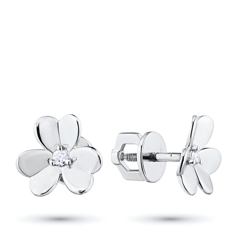 Пусеты из серебра с бриллиантом э0601пс03185400