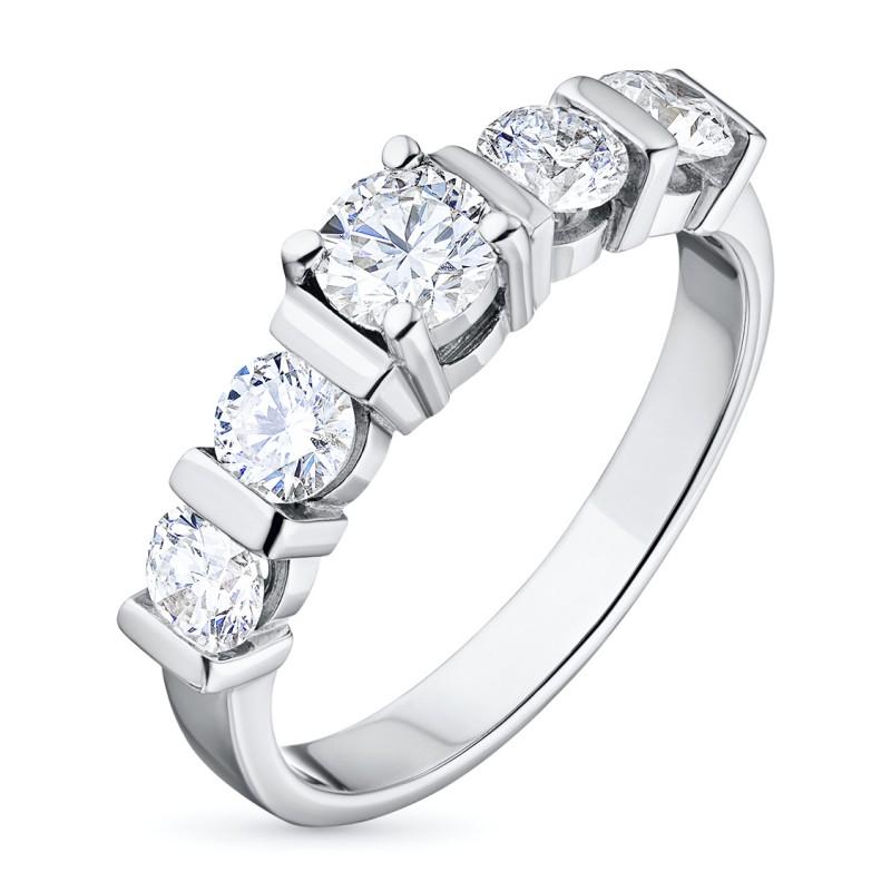 Кольцо из белого золота с бриллиантами э0901кц11081100