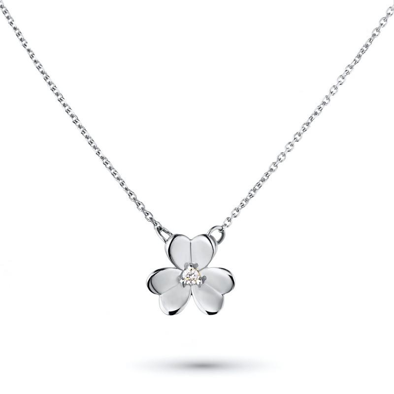 Колье из серебра с бриллиантом э0601кл03185400