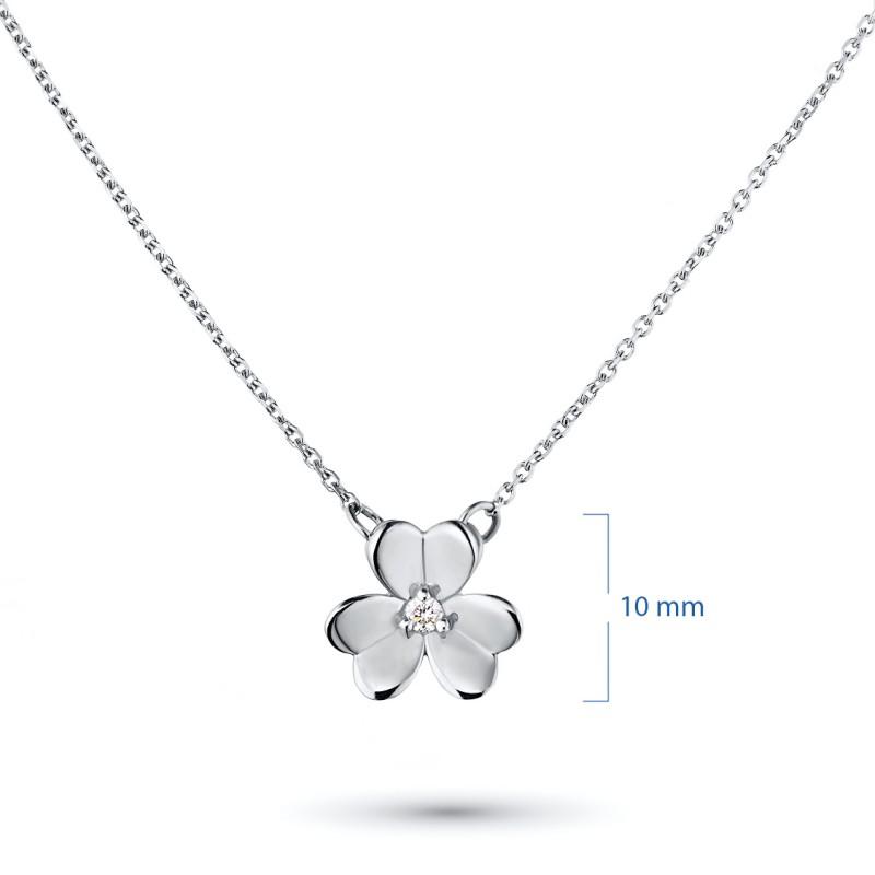 Колье из серебра с бриллиантом э0601кл03185400 (фото 2)