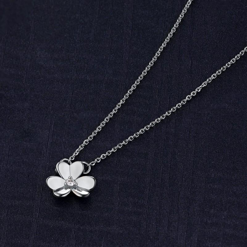 Колье из серебра с бриллиантом э0601кл03185400 (фото 4)