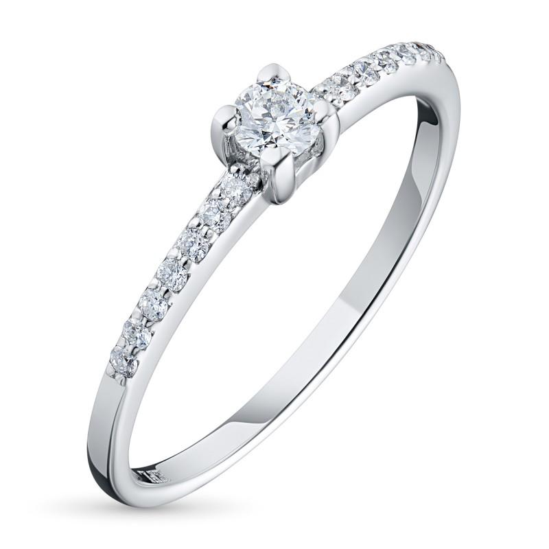Кольцо из белого золота с бриллиантами э0901кц05150200