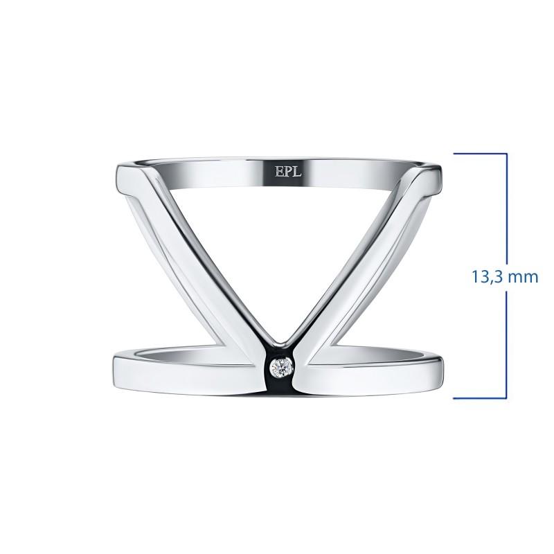 Кольцо из серебра с бриллиантом э0601кц02193600 (фото 3)