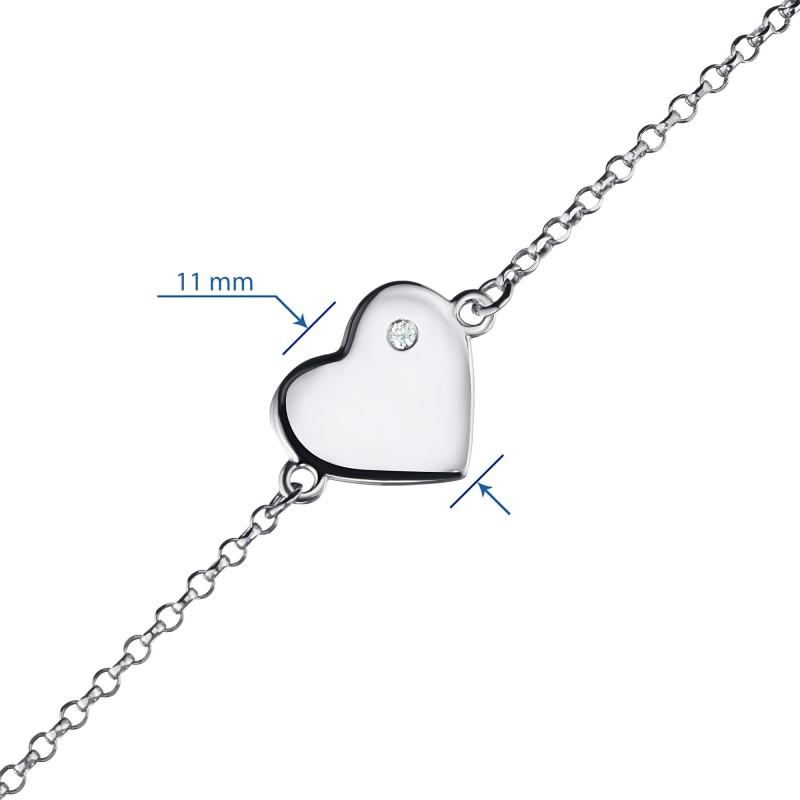 Браслет из серебра с бриллиантом э0601бр07191110 (фото 3)
