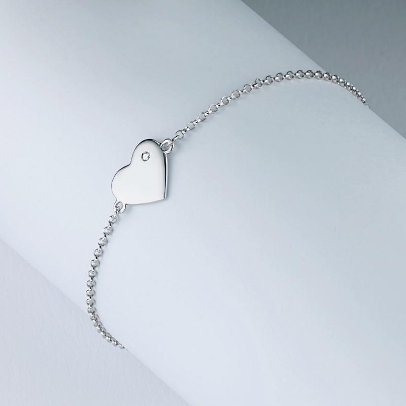 Браслет из серебра с бриллиантом э0601бр07191110 (фото 4)