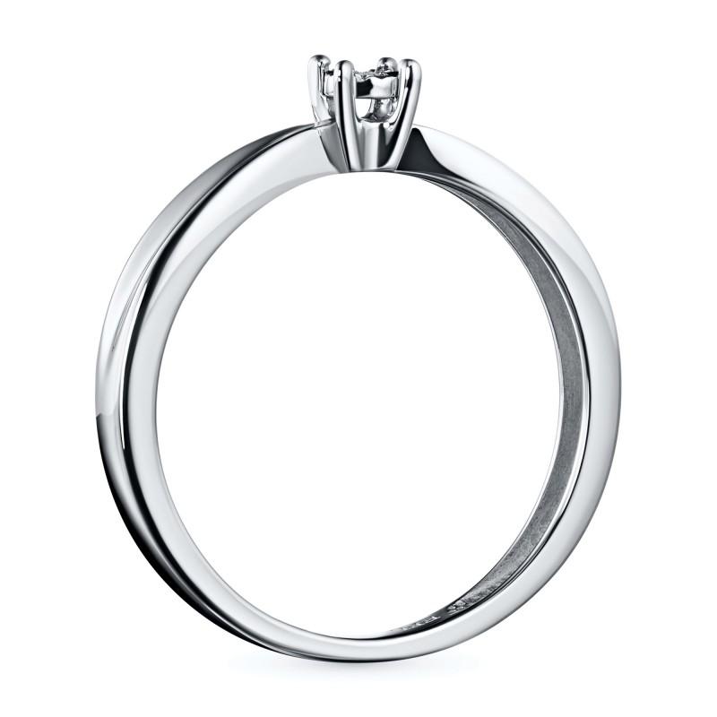 Кольцо из белого золота с бриллиантом э0901кц08200117 (фото 4)