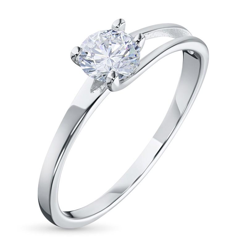 Кольцо из белого золота с бриллиантом э0901кц07080100