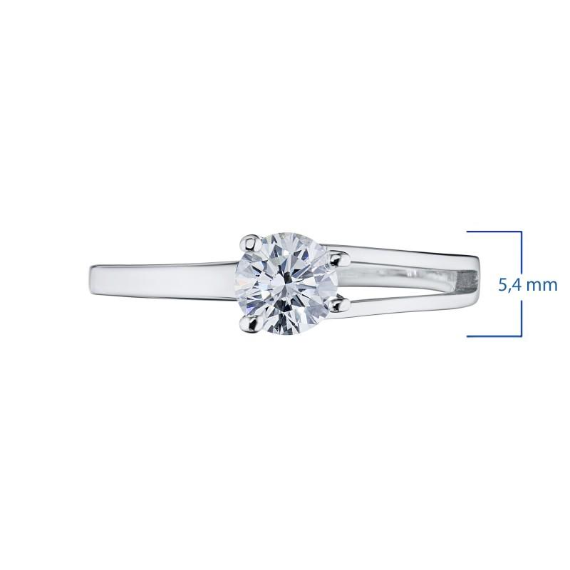 Кольцо из белого золота с бриллиантом э0901кц07080100 (фото 3)