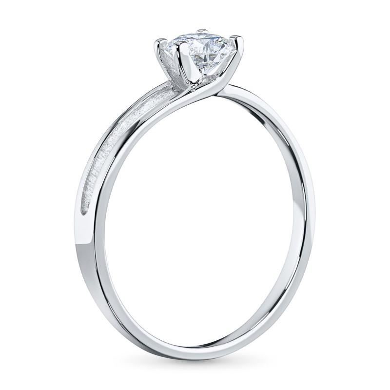Кольцо из белого золота с бриллиантом э0901кц07080100 (фото 4)
