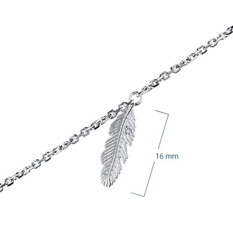 Браслет из серебра с бриллиантом э0601бр04202329 (фото 3)