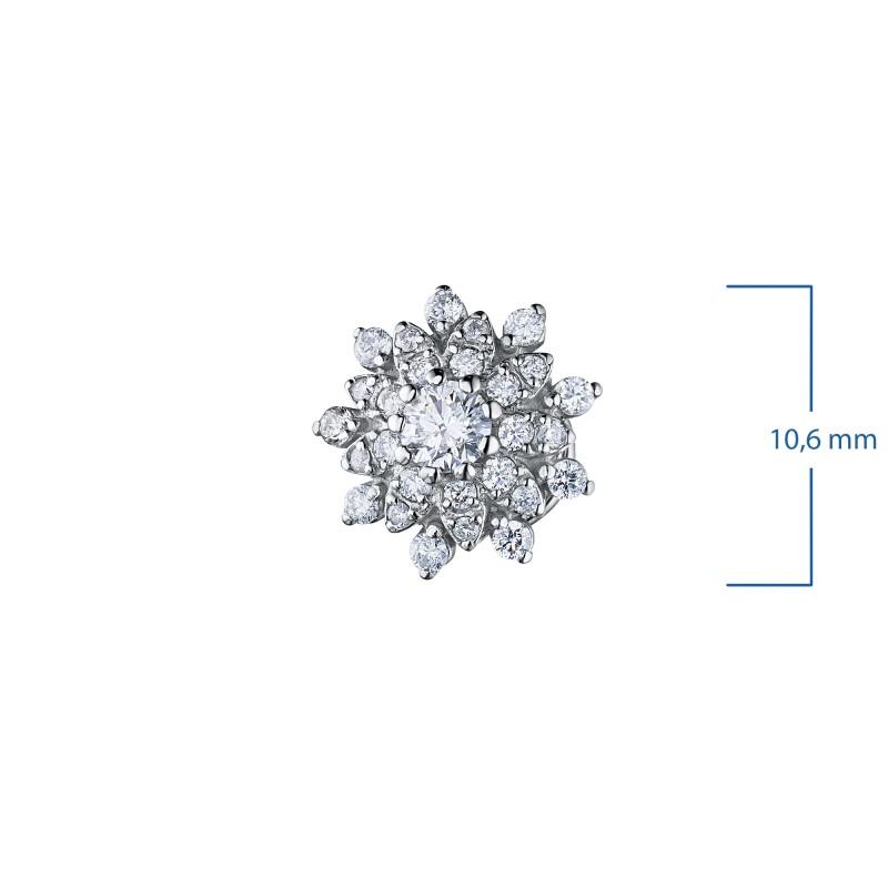 Пусеты из белого золота с бриллиантами э0901пс03196300 (фото 2)