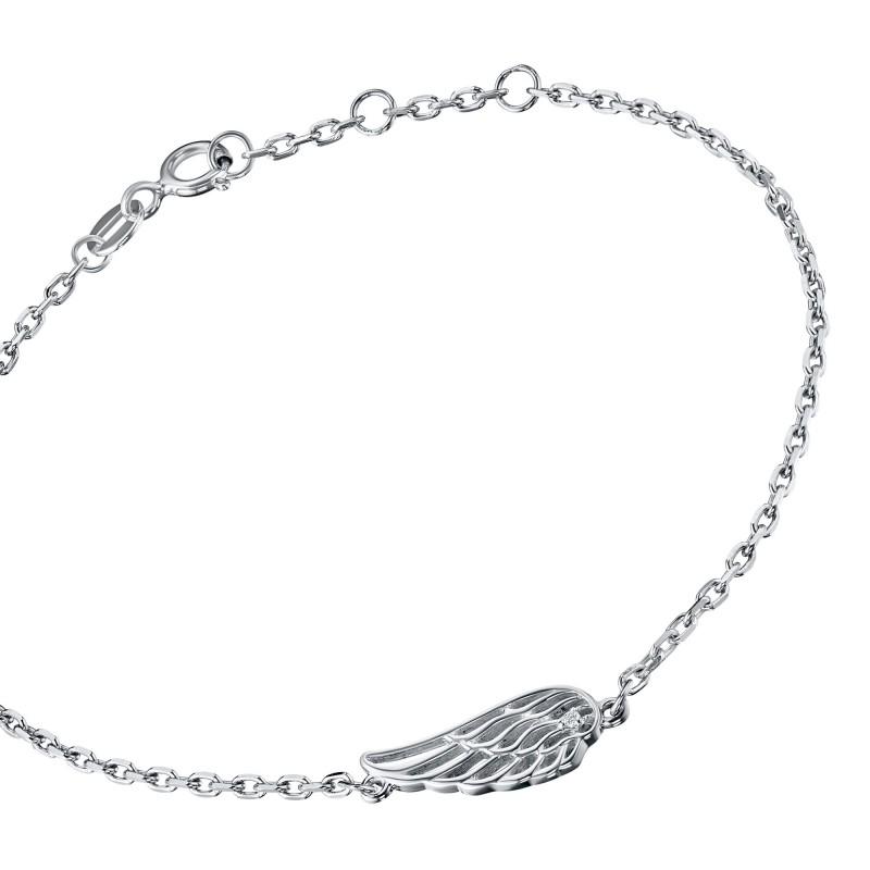 Браслет из серебра с бриллиантом э0601бр07178300 (фото 2)