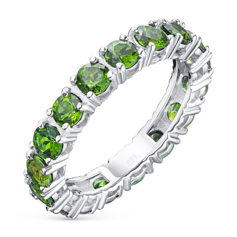 Кольцо из серебра с хромдиопсидом э0605кц09200457