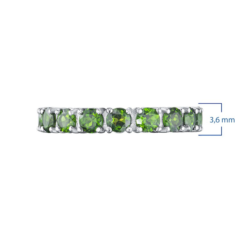 Кольцо из серебра с хромдиопсидом э0605кц09200457 (фото 3)
