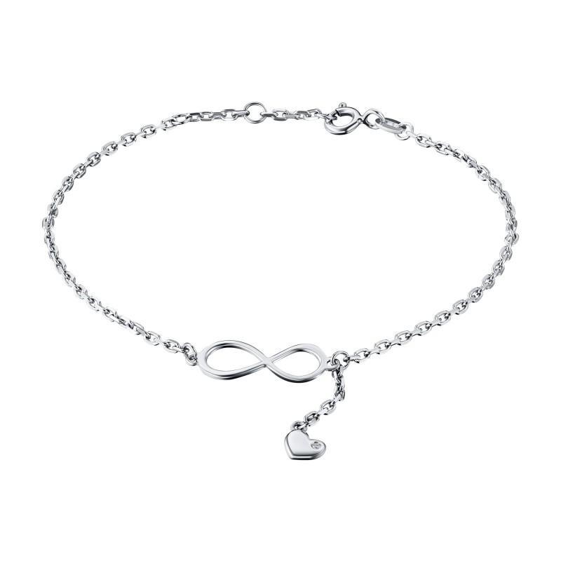 Браслет из серебра с бриллиантом э0601бр04201587