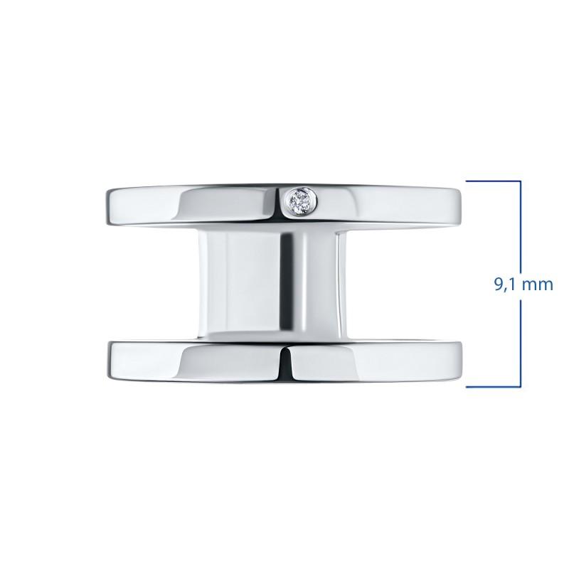 Кольцо из серебра с бриллиантом э0601кц02193900 (фото 3)