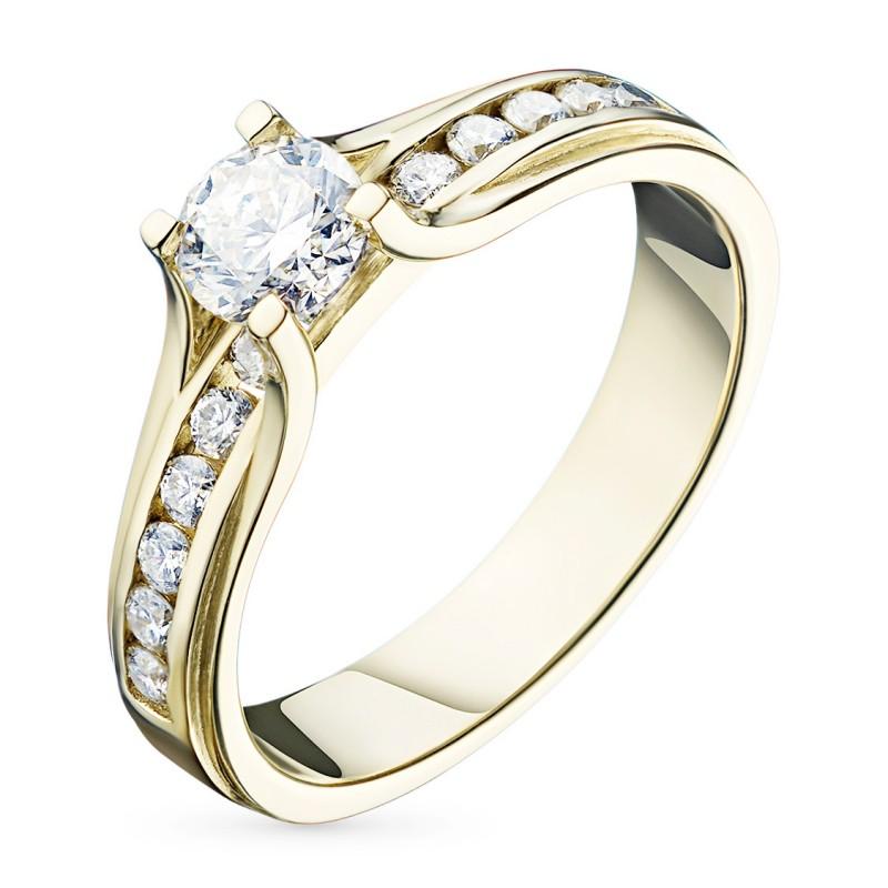 Кольцо из желтого золота с бриллиантами э0301кц09150600