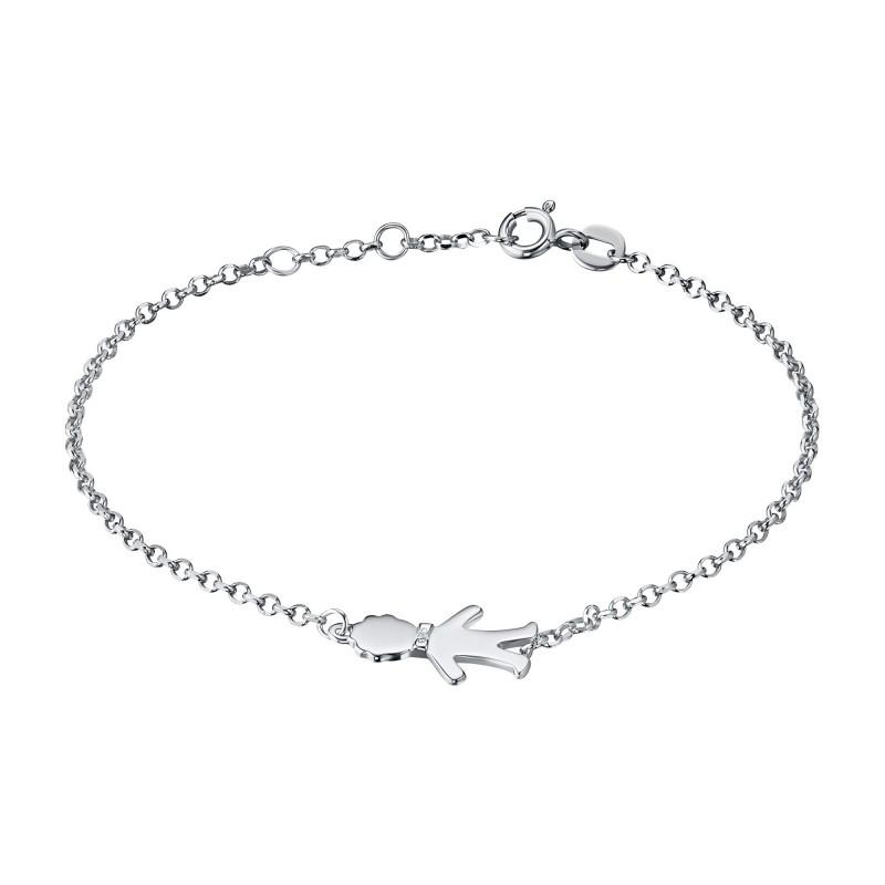 Браслет из серебра с бриллиантом э0601бр11174500