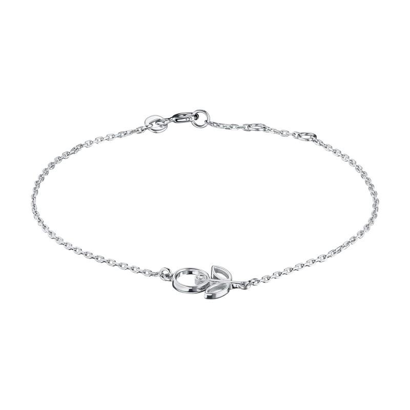 Браслет из серебра с бриллиантом э0601бр05200697