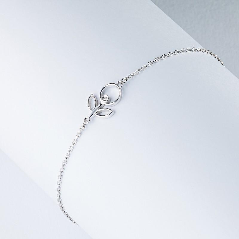 Браслет из серебра с бриллиантом э0601бр05200697 (фото 4)