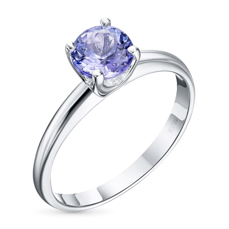Кольцо из серебра с танзанитом э0608кц11102400