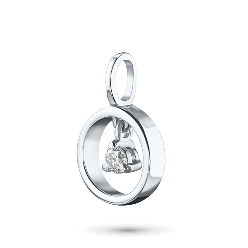 Подвеска из серебра с бриллиантом э0601пд05170900 (фото 2)