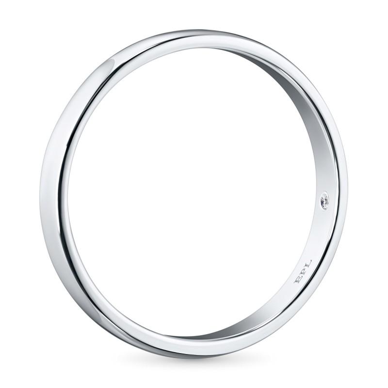 Кольцо из белого золота с бриллиантом э0901кц05152000 (фото 4)