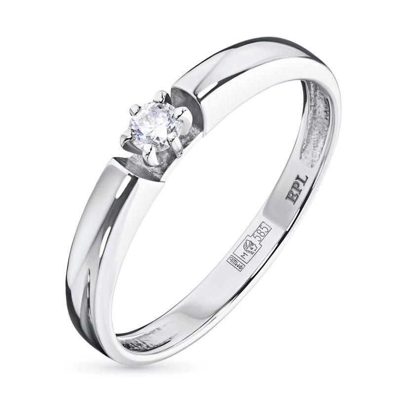 Кольцо из белого золота с бриллиантом э0901кц02159400
