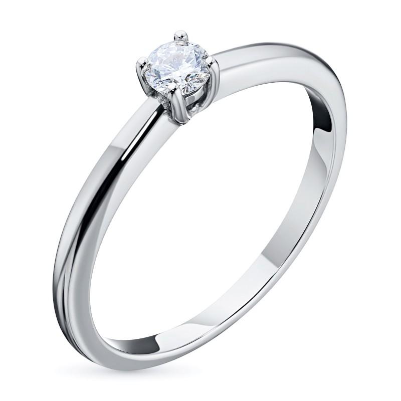 Кольцо из белого золота с бриллиантом э0901кц01162900