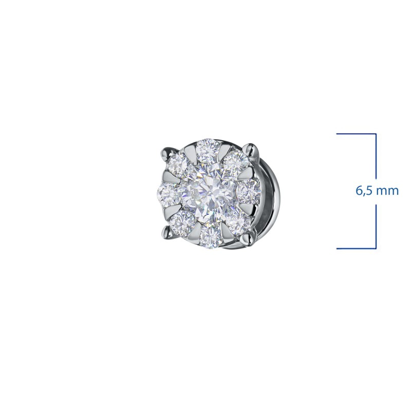 Пусеты из белого золота с бриллиантами э0901пс08188300 (фото 3)