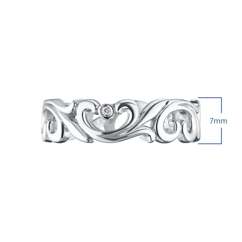 Кольцо из серебра с бриллиантом э0601кц08177000 (фото 3)