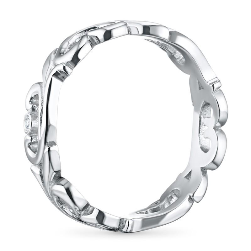 Кольцо из серебра с бриллиантом э0601кц08177000 (фото 4)