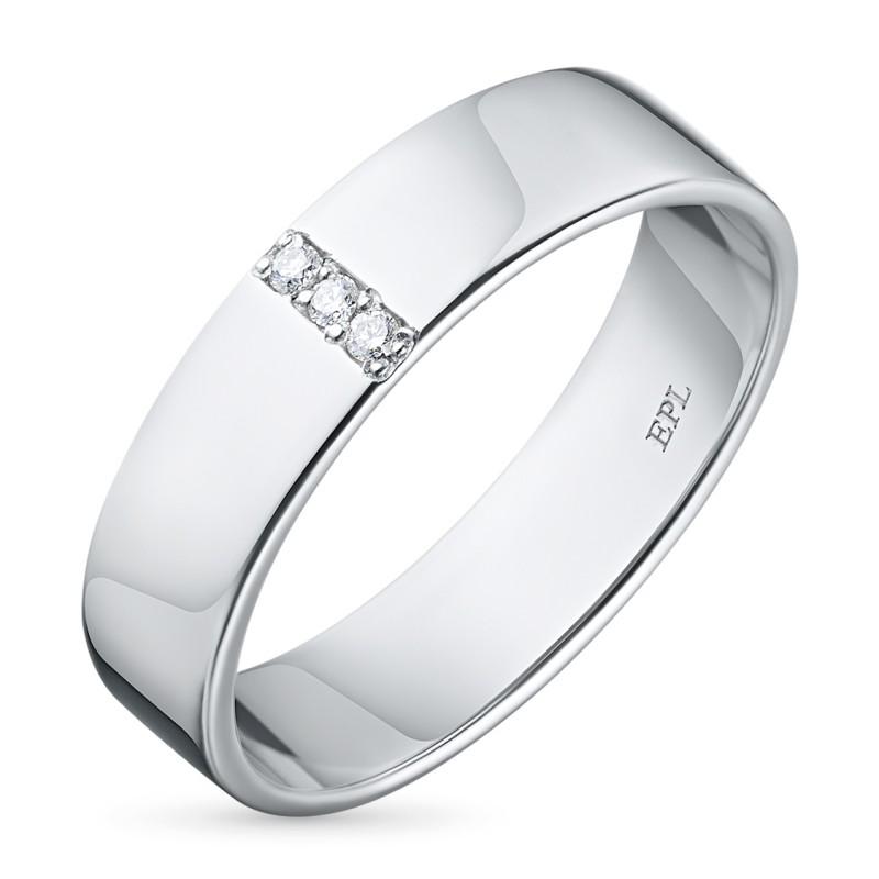 Кольцо из серебра с бриллиантом э0601кц10153700