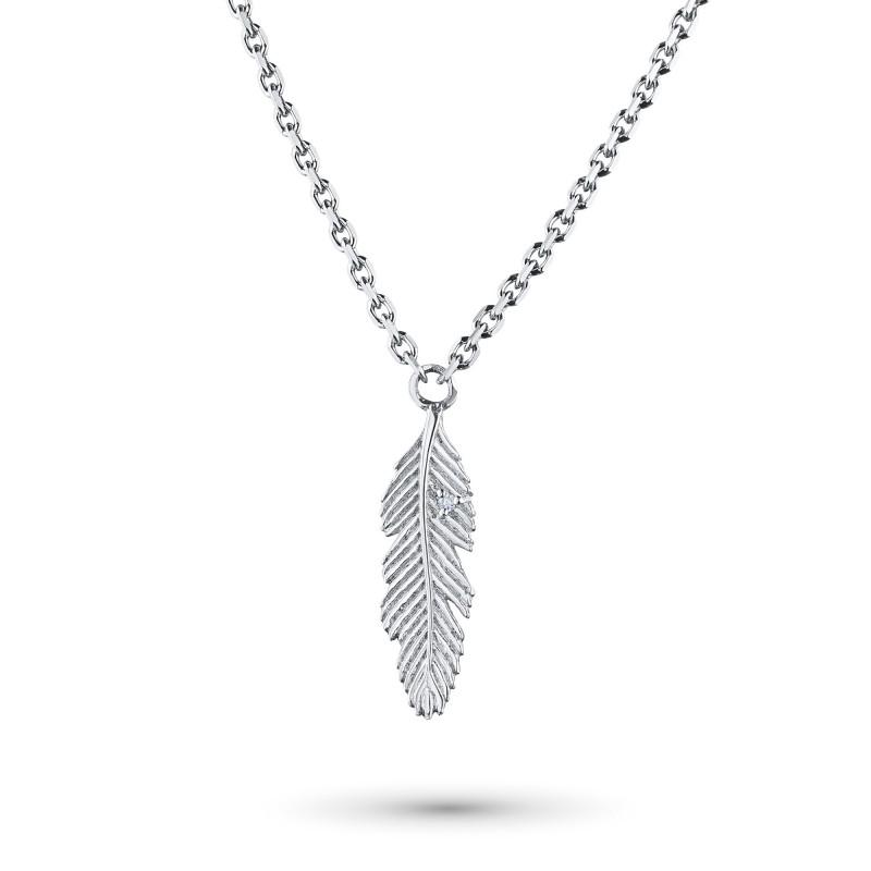Колье из серебра с бриллиантом э0601кл04202329