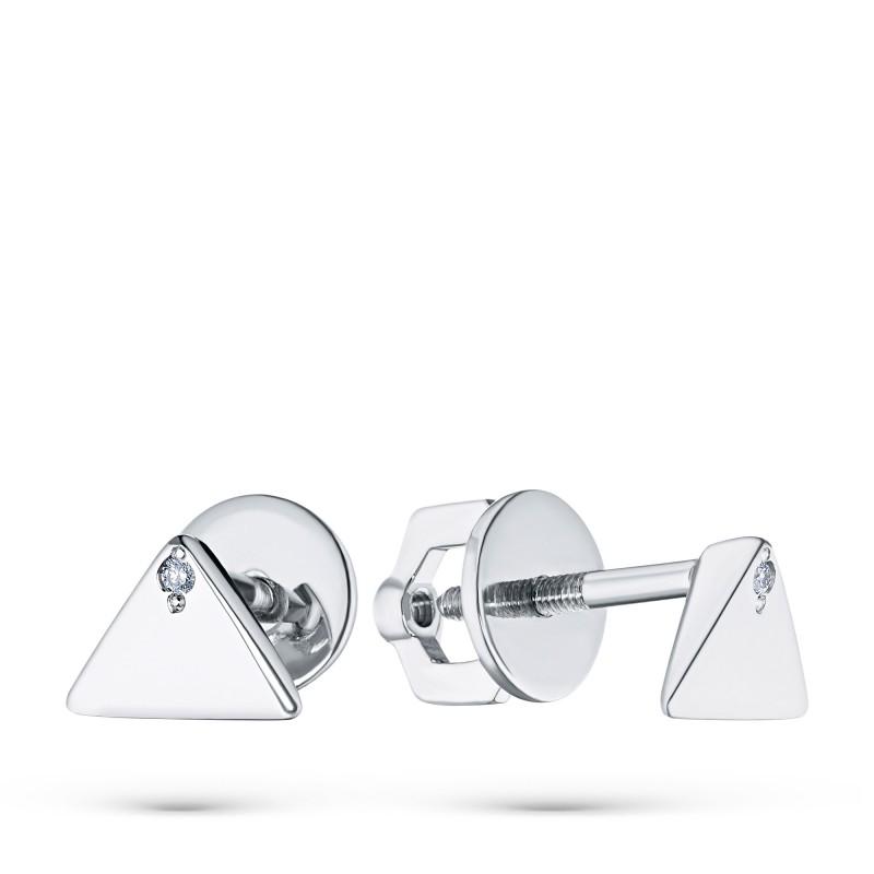 Пусеты из серебра с бриллиантом э0601пс03192500