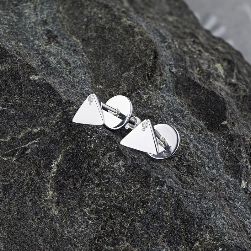 Пусеты из серебра с бриллиантом э0601пс03192500 (фото 4)