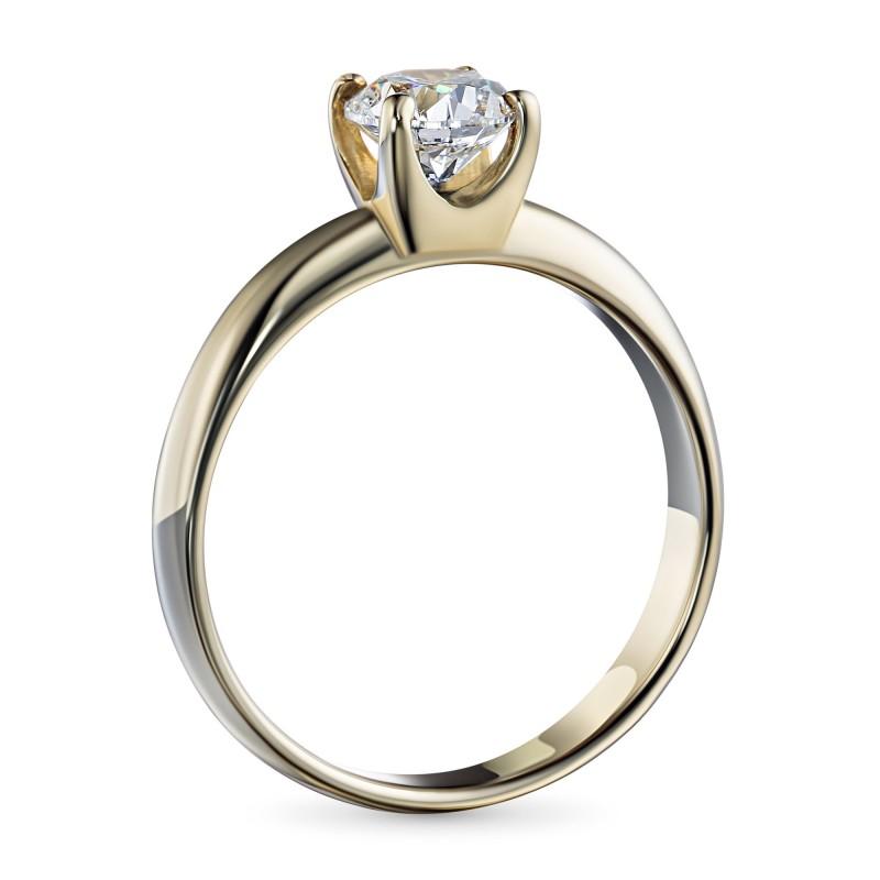 Кольцо из желтого золота с бриллиантом э0301кц11102400 (фото 4)