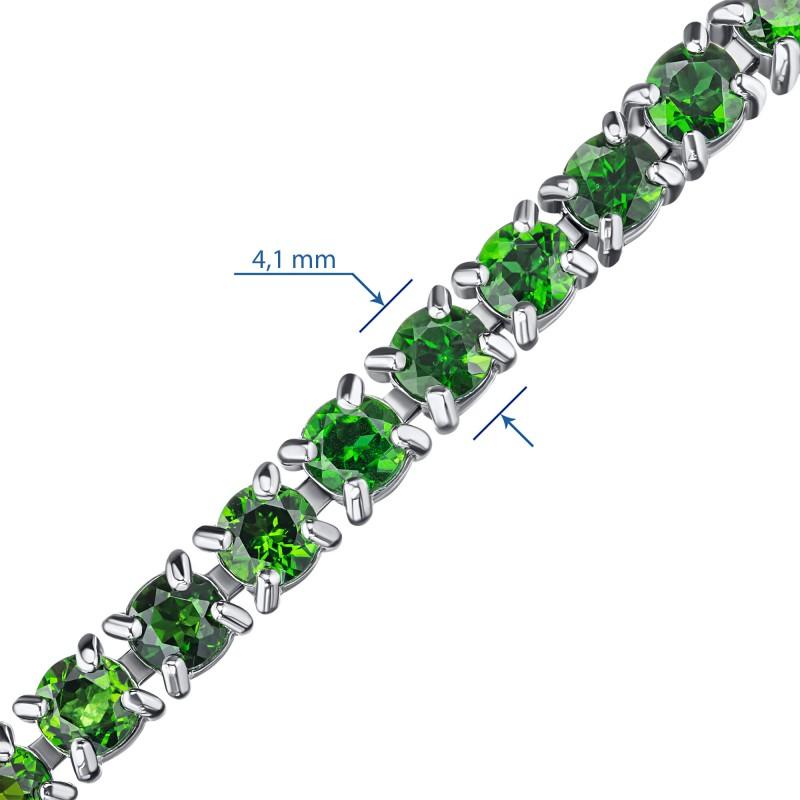 Браслет из серебра с хромдиопсидом э0605бр09200457 (фото 3)