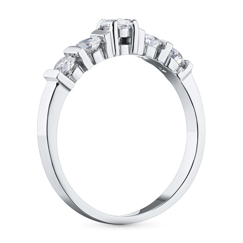 Кольцо из белого золота с бриллиантами э0901кц05150900 (фото 4)