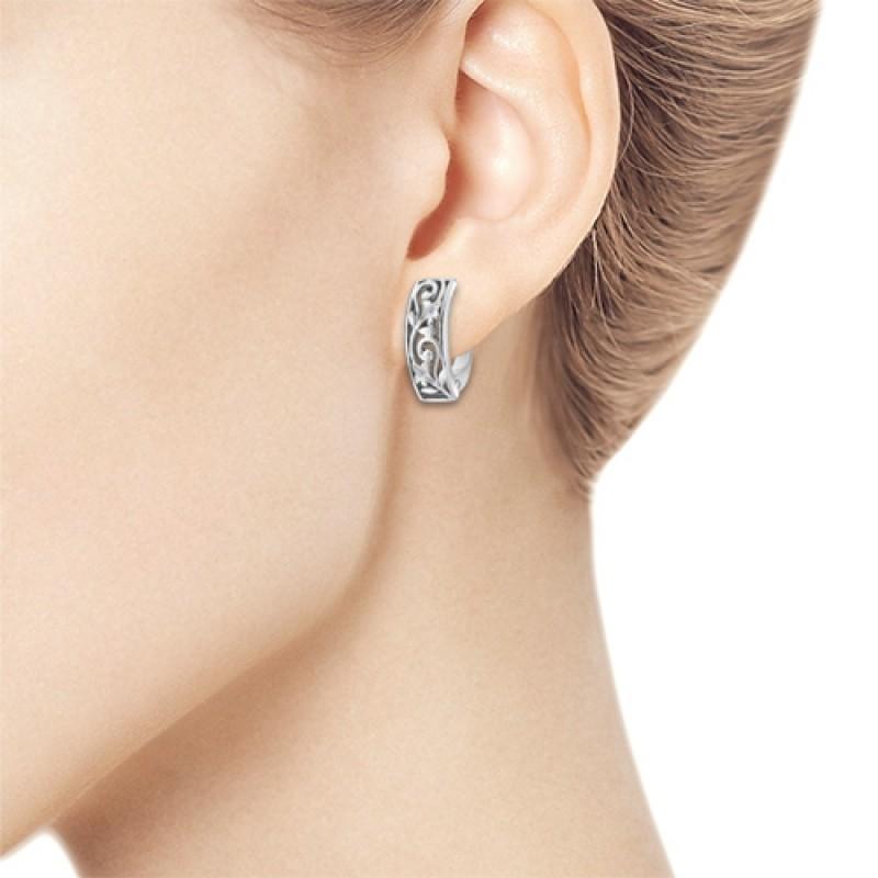 Серьги из серебра с бриллиантом э0601сг09152600 (фото 3)