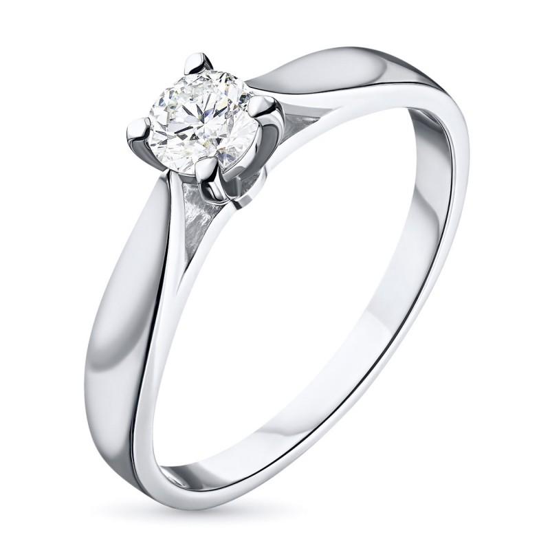 Кольцо из белого золота с бриллиантом э0901кц10151500