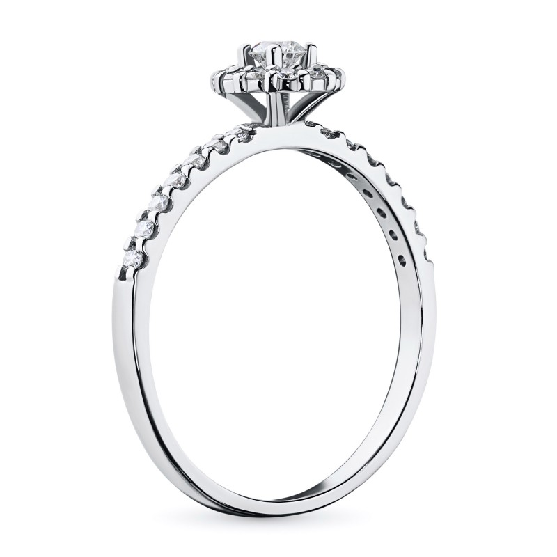 Кольцо из белого золота с бриллиантами э0901кц08189400 (фото 4)