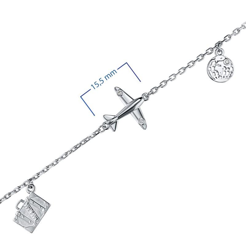 Браслет из серебра с бриллиантом э0601бр04202971 (фото 3)