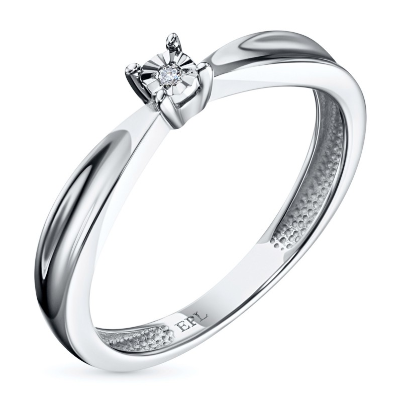 Кольцо из белого золота с бриллиантом э0901кц08200117