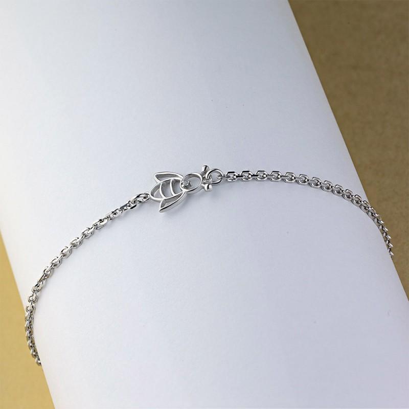 Браслет из серебра с бриллиантом э0601бр04201109 (фото 4)